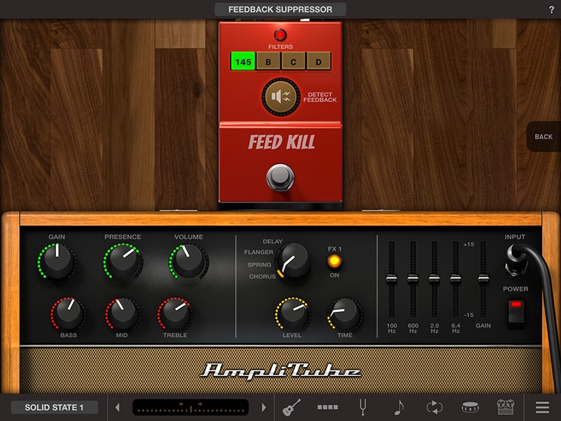 AmpliTube Acoustic Feed Kill