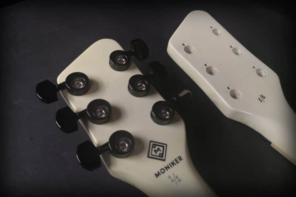 Moniker Guitars (headstock back)