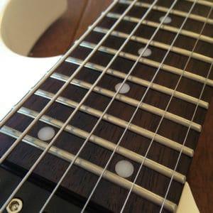 Stringjoy strings on an Ibanez seven-string