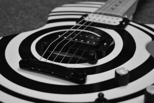 My Moniker Guitars custom Reedsdale (close-up)