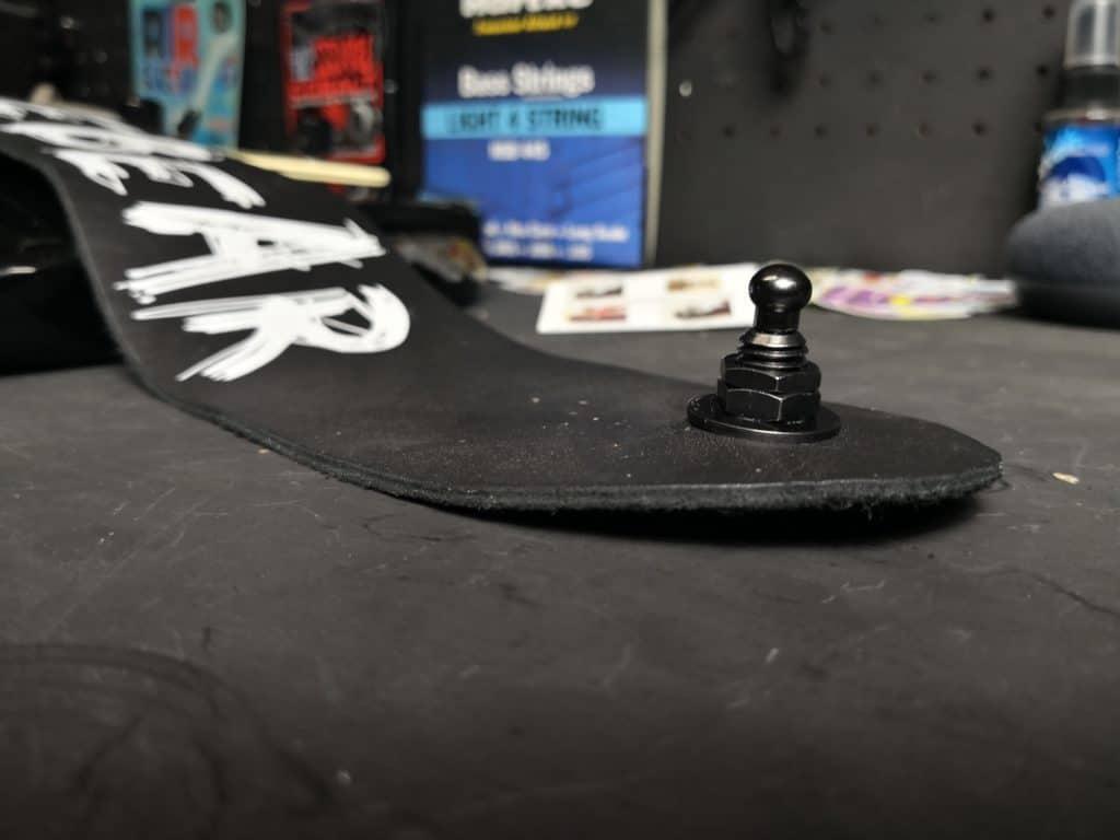 PLB guitar strap tightened