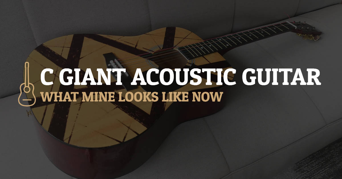 C Giant Acoustic Guitar